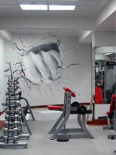 12 best gym art images gym gym design graffiti rh pinterest ch
