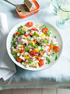 Healthy Salad Recipes, Lunch Recipes, Baby Food Recipes, Pasta Recipes, Salade Caprese, Look And Cook, Different Salads, Clean Eating, Go Veggie