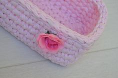 Hey, I found this really awesome Etsy listing at https://www.etsy.com/listing/198502544/pink-crochet-handmade-rectangle-basket