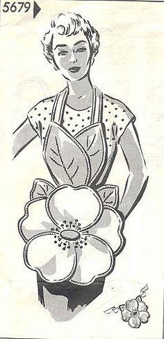 Фартуки - цветы (ретро-подборка) / Выкройки ретро / ВТОРАЯ УЛИЦА