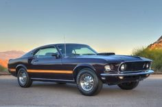 Factory Purple 1969 Ford Mustang Mach 1