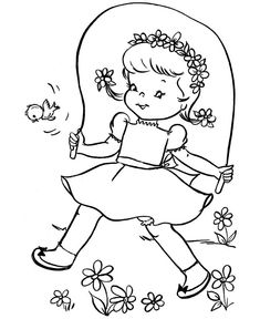 Cute Spring Coloring Pages - Cute Spring Coloring Pages , Cute Spring Flower and butterfly Coloring Page for Kids Butterfly Coloring Page, Flower Coloring Pages, Coloring Book Pages, Coloring Sheets For Kids, Coloring Pages For Girls, Embroidery Transfers, Embroidery Patterns, Embroidery Stitches, Spring Coloring Pages