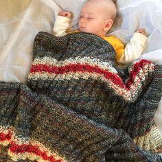 Chunky Knit Baby Blanket Modern Gray White Red Striped Girl or Boy Blanket Toddler Blanket Stroller Blanket - 089