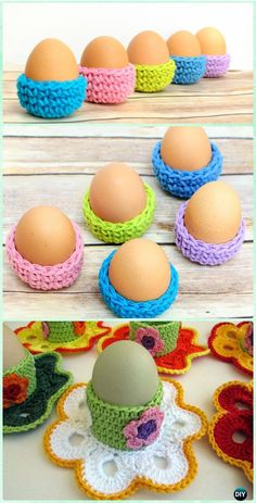 Crochet Easter Eggs Cozy Holder Free Pattern - Crochet Easter Egg Ideas [Free Patterns]