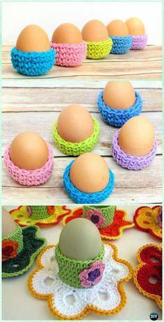 Crochet Easter Eggs Cozy Holder Free Pattern - Crochet Easter Egg Ideas [Free Patterns]