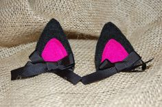 "Kitten Ears Hair Clips ""Purrfect"" for Cat or Kitty Dress Up Costumes. $6.00, via Etsy."