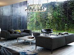 Upholstered sofa with removable cover METROPOLITAN - Poliform