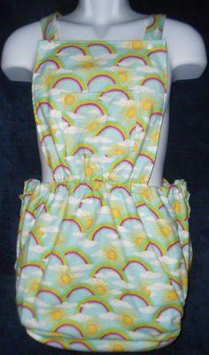 Adult Baby Waterproof Sun Suit Set - Rainbow Design ABDL