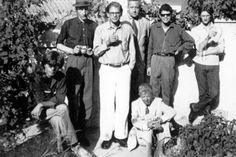 Peter Orlowsky, William S. Burroughs, Allen Ginsberg, Alan Ansen, Gregory Corso, Paul Bowles e Ian Sommerville