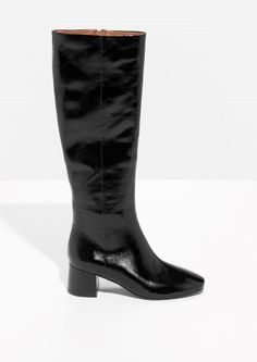 & Other Stories | Retro Patent Leather Boots