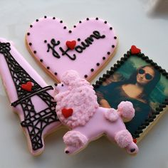 From Paris With Love Valentine Cookie