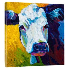 Equally at home in an artful collage or on its own as an eye-catching focal point, this eye-catching canvas print showcases an impressionistic cow portrait. ...