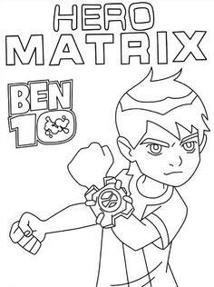 Coloring Page Ben 10