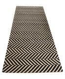 - Herringbone printed sisal runner - a classic menswear pattern, perfect for a hallway, entryway, or kitchen - printed heavyweight sisal in black - measures 2.5' wide x 7' long
