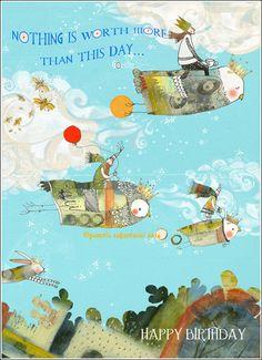 My Owl Barn: Birthday Cards by Pamela Zagarenski