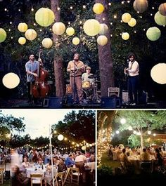 There's even an enchanted place for the band. beautiful work by www.diariodiunaweddingplanner.com