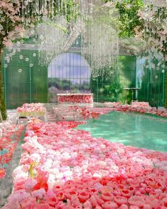 A Modern Fairytale Wedding From Our Current Issue - WedLuxe Magazine Images Esthétiques, Fantasy Landscape, Pink Aesthetic, Event Design, Beautiful Places, Scenery, Wedding Inspiration, Backyard, House Design