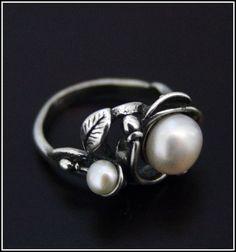 Leaf and Pearl Ring High Quality | eBay