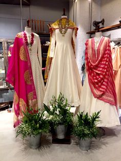 Buy designer party wear Punjabi suits, best outfits and reasonable party clothes for women in Brampton Toronto Vaughan. Lehenga, Anarkali Dress, Pakistani Dresses, Indian Dresses, Indian Outfits, White Anarkali, Sarees, Pakistani Suits, Anarkali Suits