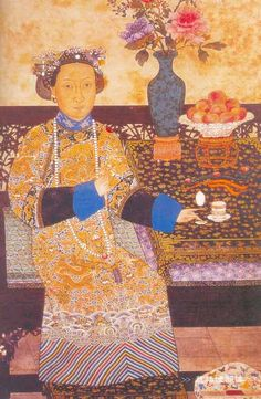 The Portrait of the Ci-Xi Imperial Dowager Empress of Qing Dynasty China.PNG