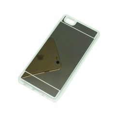 ΘΗΚΗ HUAWEI P8 LITE TPU MIRROR BACK CASE ΓΚΡΙ