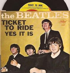 BEATLES--TICKET TO RIDE / Yes It IS RARE PICTURE SLEEVE & 45!!!