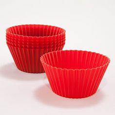 Red Silicone Baking Cups | World Market 6 for $2.49