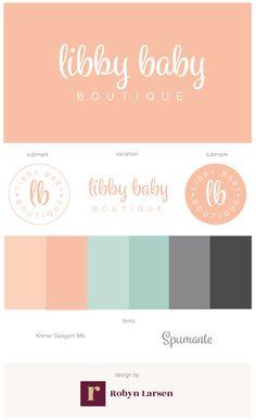 Libby Baby Boutique Brand & Website by Robyn Larsen Development - robynlarsen.ca