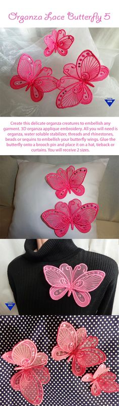 EmbroiderShoppe.net | 519 Organza Lace Butterfly 5