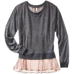 Xhilaration Juniors 2fer Button Back Sweater Assorted Colors