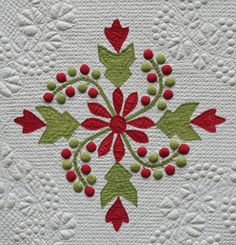 Julie Silber's Blog: Thinking about Trapunto. Trapunto mimics almost the applique
