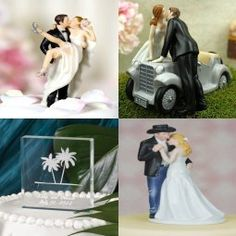 Wedding Cake Toppers - Novelty Cake Tops, cake stands, cake fountains. Cake knife & Server sets with FREE personalization.