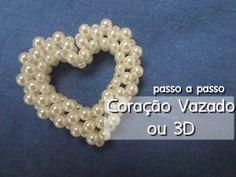2°PARTE-Coraçao em 3D em Perolas Passo a Passo -heart of pearls - YouTube