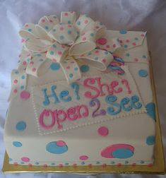 Gender Reveal cake idea