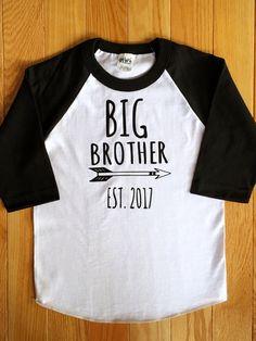 Big Sibling Gifts, Big Brother Gifts, Big Brother Tshirt, Sister Shirts, Family Shirts, Vinyl Shirts, Raglan Shirts, Baby Silhouette, Baby Planning