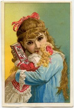 Victorian Girl With Doll Image