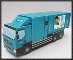 Simple Garbage Truck Paper Model Free Template Download - http://www.papercraftsquare.com/simple-garbage-truck-paper-model-free-template-download.html