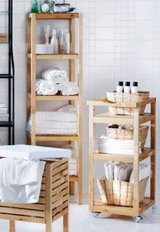54 Premium Modern White Bathroom with White Cabinets Ideas - HomeCNB Boho Bathroom, Bathroom Styling, Small Bathroom, Ikea Bathroom Storage, Cottage Style Bathrooms, Modern White Bathroom, Bad Styling, Massage Room, Bathroom Storage