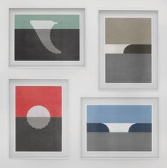 Minimalist surf art by Emil Kozak.