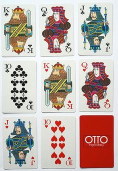 'OTTO - High Fidelity' playing cards by Nintendo. Japan. 1970s. Advertising Deck | eBay
