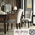 Inspire Q Parson Hip Chevron Print Fabric Side Chairs (Set of 2) | Overstock.com Shopping - The Best Deals on Dining Chairs