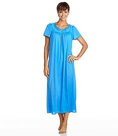 Miss Elaine ShortSleeve Long Gown #Dillards