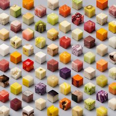 The guys of Lernert & Sander created this amazing poster for a Dutch newspaper by cutting unprocessed food into perfect cubes. You can also purchase it as a print over on their page: http://lernertandsander.com/cubes/