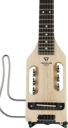 Solidbody Acoustic-electric Travel Guitar, Left-handed, with Maple Neck and Body, Rosewood Fingerboard, and Piezo Saddle Pickup - Natural #travelguitar