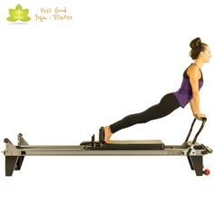 Long Stretch, a Pilates Reformer exercise, taught at our Victoria, BC location. Our high calibre of teachers at Feel Good Yoga & Pilates can help you learn more. Pilates Body, Pilates Reformer Exercises, Pilates Fitness, Tracy Anderson Diet, Different Types Of Yoga, Kickboxing Workout, Pilates Studio, Healthy Exercise, Fitness Studio