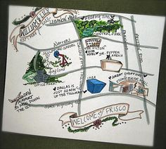 Totally doing this. Hand-drawn map for out of town guests!