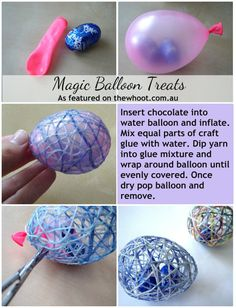This would be fun for Easter - Dazzle your friends and family with these Magic balloon treats!