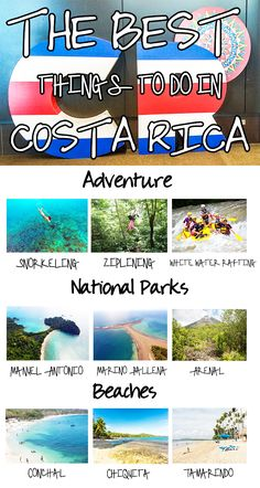 Awesome things to do in Costa Rica: adventure, beaches, national parks and much more. Click through to find out what are our other favorite activities: https://mytanfeet.com/activities/50-activities-things-to-do-in-costa-rica/
