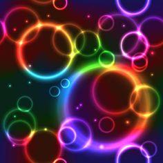 Plano de fundo sem emenda com círculos de neon arco-íris — vetores de stock Blue Butterfly Wallpaper, Colorful Wallpaper, Rainbow Wallpaper, Beautiful Wallpaper, New Background Images, Glitter Background, Wallpaper Iphone Neon, Wallpaper Backgrounds, Wallpaper Ideas