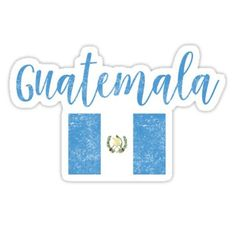 'Guatemala Flag Vintage Handwriting Style' Sticker by TrevelyanPrints Handwriting Styles, Improve Handwriting, Guatemala Flag, Flag Drawing, Argentina Flag, Mexico Flag, France Flag, Summer Vacation Outfits, Altar